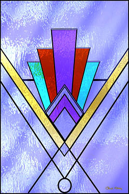 Digital Art - Art Deco Pattern 3 V  by Chuck Staley