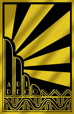 Digital Art - Art Deco Poster by Chuck Staley