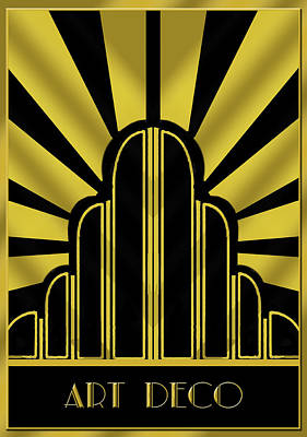 Digital Art - Art Deco Poster - Title by Chuck Staley