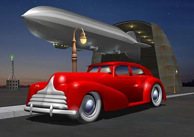 Art Deco Sedan Original by Stuart Swartz