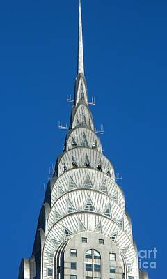 Art Deco Skyscraper - The Chrysler Building Art Print by Emmy Vickers