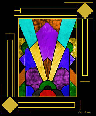 Digital Art - Art Deco - Stained Glass by Chuck Staley