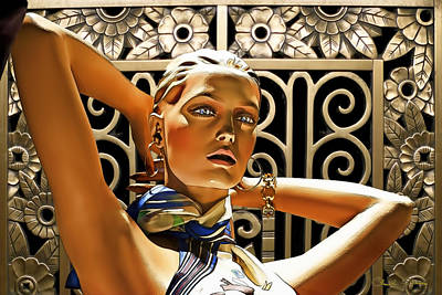 Acrylic Jewelry Photograph - Art Deco - Swimsuit by Chuck Staley