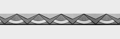 Photograph - Art Deco Trim #2 - Bw by Nikolyn McDonald