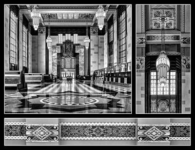 Photograph - Art Deco Triptych #2 - Bw by Nikolyn McDonald