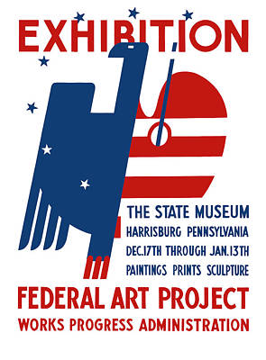 Works Progress Administration Digital Art - Art Exhibition The State Museum Harrisburg Pennsylvania by War Is Hell Store