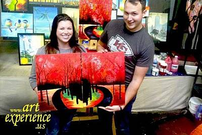 Painting - Art Experience Guests  by Richard Fritz