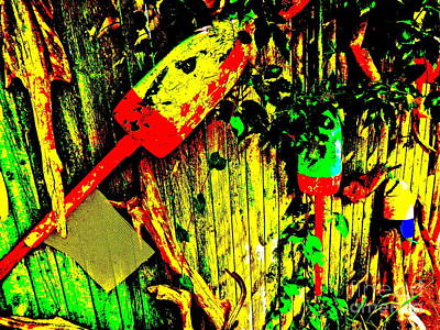 Photograph - Art Fence 9c by George Ramos