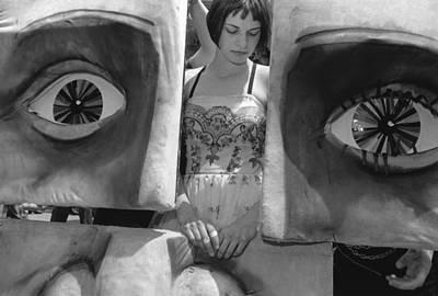 Art Festival Performer With Masks Art Print by Robert Ullmann