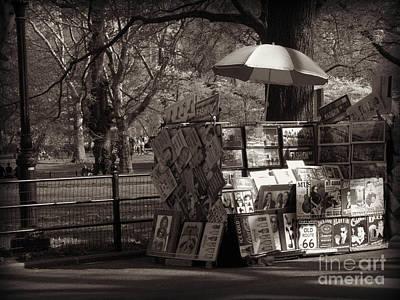 Photograph - Art For Sale - Central Park - Antique Appeal by Miriam Danar