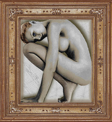Art For The Sake Of Art Woman Framed 4 Art Print by Tony Rubino