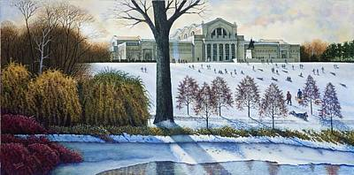 Painting - Art Hill In Winter by Michael Frank