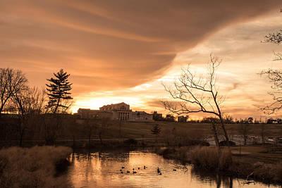 Photograph - Art Hill Winter Sunset by Scott Rackers
