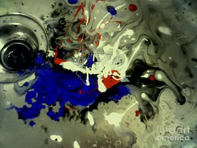 Art In A Sink Art Print by Kelly Awad
