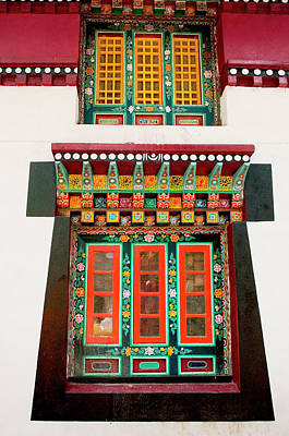 Art In Monastery Architecture, Sikkim Art Print by Jaina Mishra
