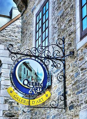 Photograph - Art In Old Quebec by Mel Steinhauer