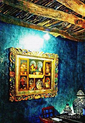 Las Cruces Painting - Art In The Blue Room by Barbara Chichester