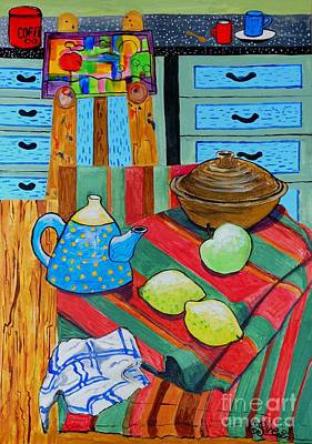 Teapot Painting - Art In The Kitchen by Caroline Street