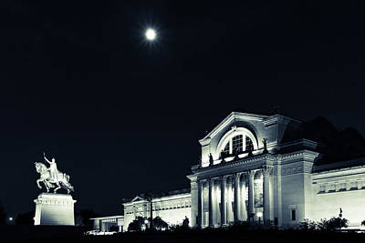 Photograph - Art Museum And Moonlight by Scott Rackers