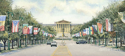 Phillies Art Painting - Art Museum  by Keith Mountford