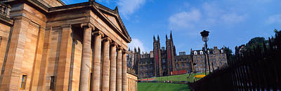Art Museum With Free Church Of Scotland Art Print by Panoramic Images