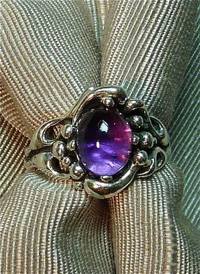 Art Nouveau Amethyst Splash Ring Original by Danny Shaw