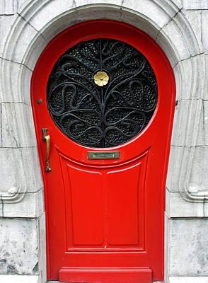 Photograph - Art Nouveau Door by Gerry Bates