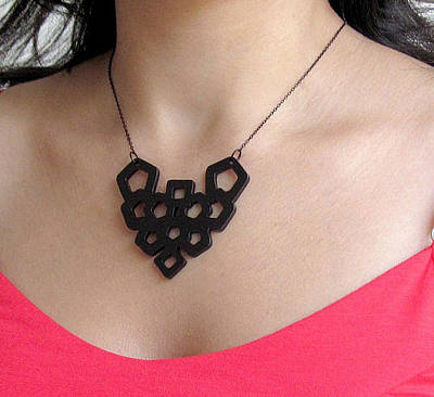 Perspex Jewelry Jewelry - Art Nouveau Geometric Necklace by Rony Bank