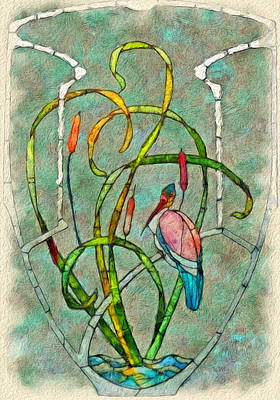 Lithograph Digital Art - Art Nouveau by Jack Zulli