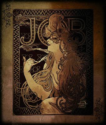 Digital Art - Art Nouveau Job - Masquerade by Absinthe Art By Michelle LeAnn Scott