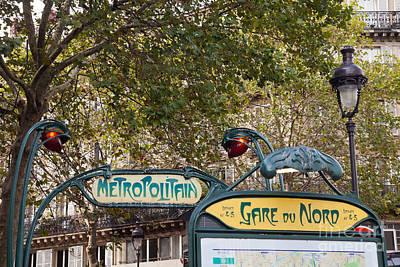 Photograph - Art Nouveau Metropolitain Sign by Liz Leyden