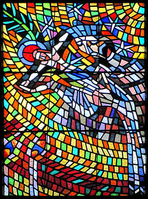 Nouveau Photograph - Art Nouveau Stained Glass Windows Ss Vitus Cathedral Prague by Christine Till