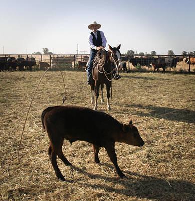 Working Cowboy Photograph - Art Of A Cowboy by Diane Bohna