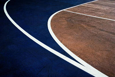 Photograph - Art On The Basketball Court  11 by Gary Slawsky