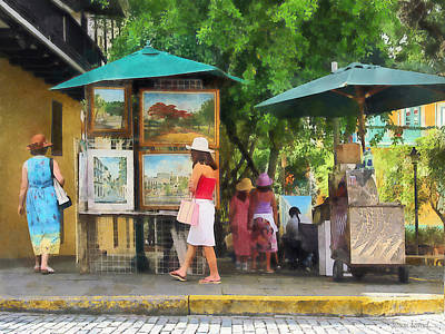 Photograph - Art Show In San Juan by Susan Savad