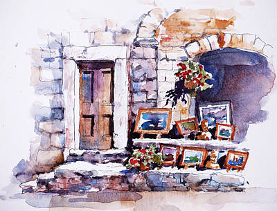 San Gimignano Painting - Art Store by Sue Zimmermann