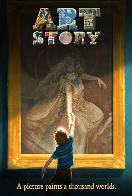 Wall Art - Digital Art - Art Story Poster by Aaron Blaise