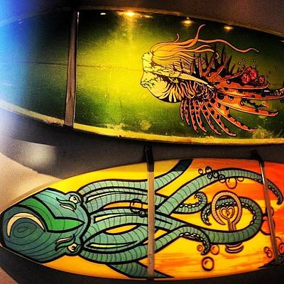 Octopus Wall Art - Photograph - #art #surf #surfboard #saltlife by Tony Sinisgalli