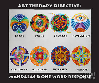 Painting - Art Therapy Directive Mandala by Anne Cameron Cutri