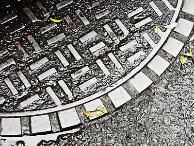 Manhole Photograph - Art Underfoot by Sarah Loft
