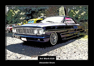 Purple V8 Photograph - Art Work 019 Ford Galaxy  by Alexander Drum