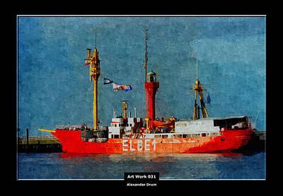 Hamburg Digital Art - Art Work 031 by Alexander Drum
