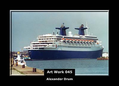 Art Work 045 Passenger Ship Art Print by Alexander Drum