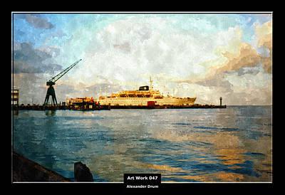 Hamburg Digital Art - Art Work 047 America Port In Cuxhaven by Alexander Drum