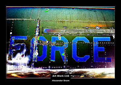 Rivets Painting - Art Work 110 Force by Alexander Drum