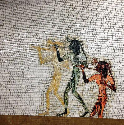 Nyc Subway Mosaic Photograph - Artemis Acrobats Divas And Dancers by Natasha Marco