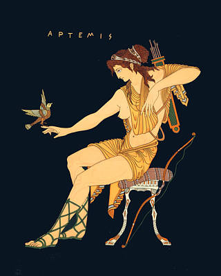 Painting - Artemis by Troy Caperton