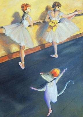 Artemouse With Dancers At The Barre Art Print by Debbie Patrick