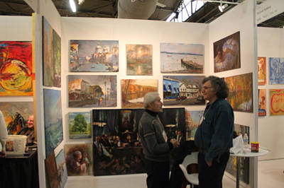 Artist At Work Photograph - Artexpo 2011 Ny by Ylli Haruni