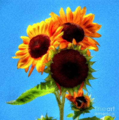 Photograph - Artful Sunflower by Patrick Witz